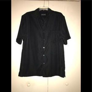 Short sleeve button down shirt - L - Black